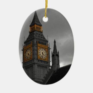 London Big Ben Ceramic Oval Decoration