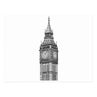 London Big Ben Illustration Postcard