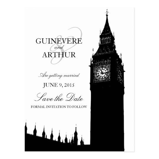 London Big Ben Modern Wedding Save the Date