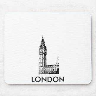 LONDON BIG BEN monotone print Mouse Pad