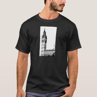 LONDON BIG BEN monotone print T-Shirt