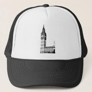 LONDON BIG BEN monotone print Trucker Hat