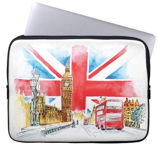 """London Big Ben Neoprene Laptop Sleeve 13"""""""