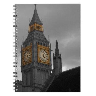 London Big Ben Spiral Notebooks
