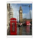 London Big Ben Phone box (by St.K) Greeting Card