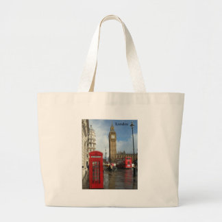 London Big Ben Phone box (by St.K) Jumbo Tote Bag