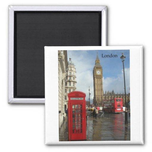 London Big Ben Phone box (by St.K) Magnets