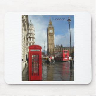 London Big Ben Phone box by St K Mouse Pads