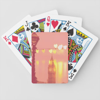 London   Big Ben Photograph Filtered Nightime Bicycle Playing Cards