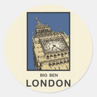 London Big Ben Round Sticker