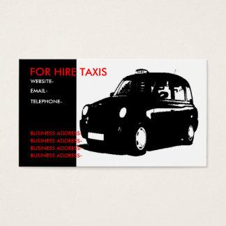 London black cab business card