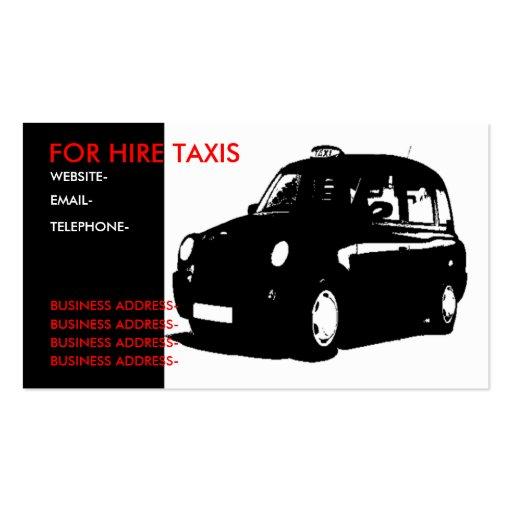 London black cab business card template