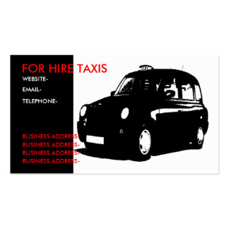 London black cab business card template