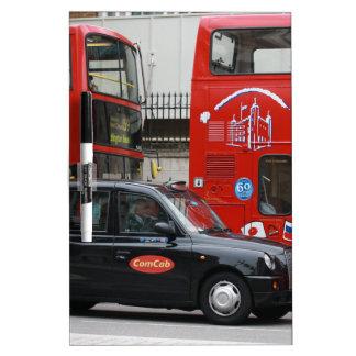 London Black Cab Taxi Dry Erase Board