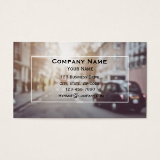 London Black Car Taxi Cab Business Card