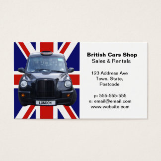 London Black Taxi Cab Business Card