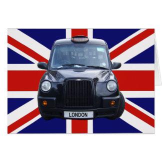 London Black Taxi Cab Greeting Card