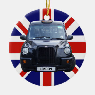 London Black Taxi Cab Christmas Ornament