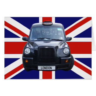 London Black Taxi Cab Greeting Cards