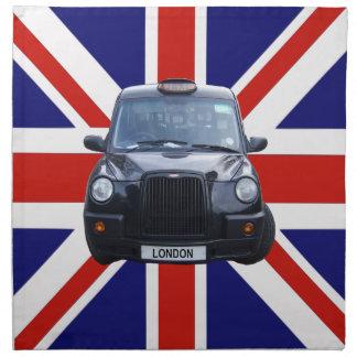 London Black Taxi Cab Napkin