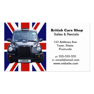 London Black Taxi Cab Pack Of Standard Business Cards
