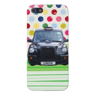 London Black Taxi Cab with colorful polka dots Case For The iPhone 5