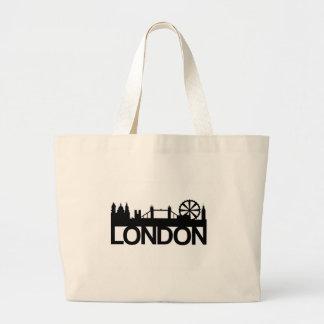 London Bold Silhouette Jumbo Tote Bag
