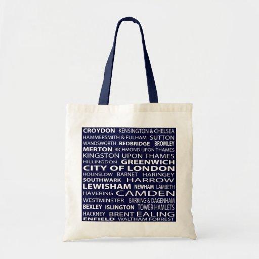 London Boroughs Tote Bag