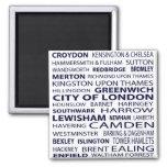 London Boroughs Magnet (white)