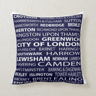 London Boroughs Pillow