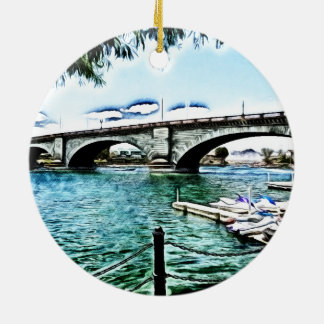 London Bridge at Lake Havasu City, Arizona Christmas Ornament