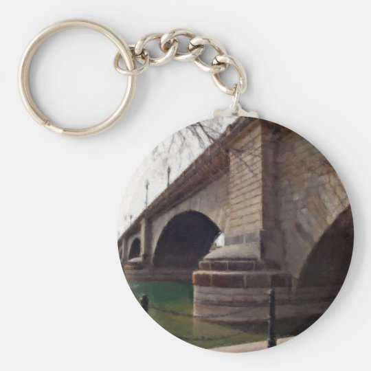 London Bridge at Lake Havasu Painted Basic Round Button Key Ring