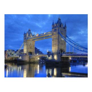 London Bridge at Night Postcard