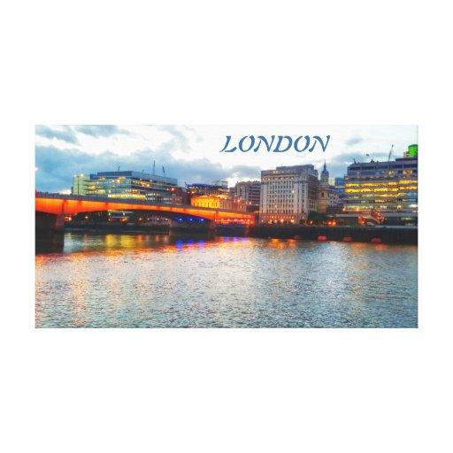 London Bridge at Night Stretched Canvas Canvas Prints