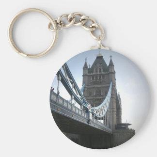 London Bridge Basic Round Button Key Ring