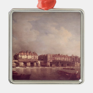 London Bridge before the Alteration in 1757 Christmas Ornament