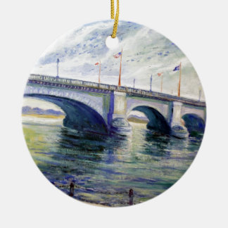 London Bridge by Alfred Zwiebel Christmas Ornament