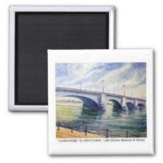 London Bridge by Alfred Zwiebel Magnet