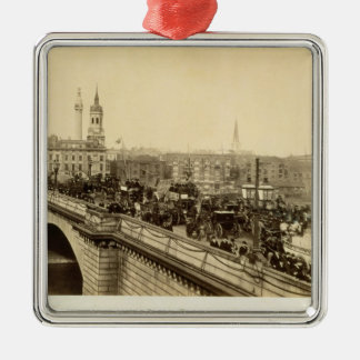 London Bridge, c.1880 (sepia photo) Christmas Ornament