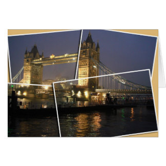 London bridge collage card