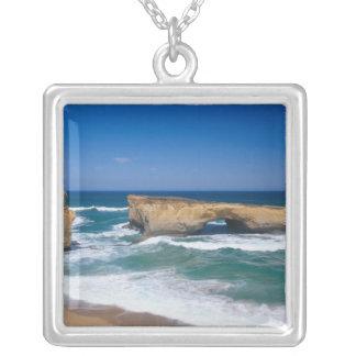 London Bridge, Great Ocean Road, Victoria, Silver Plated Necklace