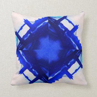 London Bridge modern abstract blue cushion