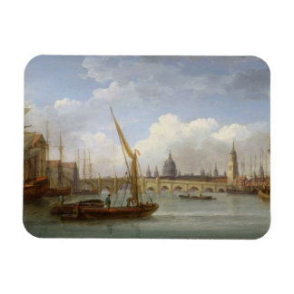 London Bridge with St Paul s Cathedral in the Di Rectangular Magnet