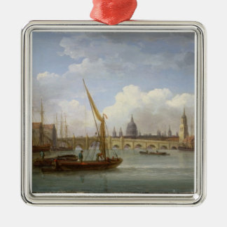London Bridge, with St. Paul's Cathedral in the Di Christmas Ornament
