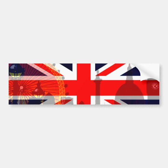London-British Flag_ Bumper Sticker