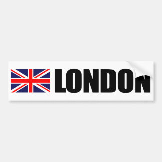 London, British Flag Bumper Sticker