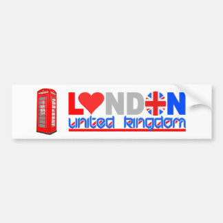 London bumpersticker bumper sticker