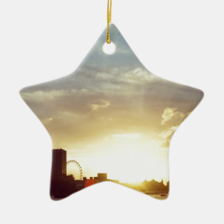 London burning christmas ornament