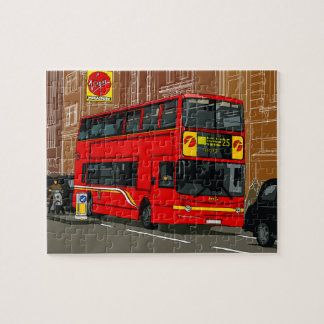 """London bus 8"""" x 10"""" Photo Puzzle with Gift Box"""