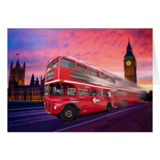 London bus and Big Ben Card